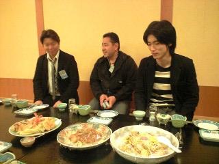 澤田塾メンバー(左から中村アニキ・ダイワマン高橋・雫石さん)