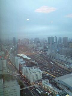 最上階からの景色(羽田空港が)