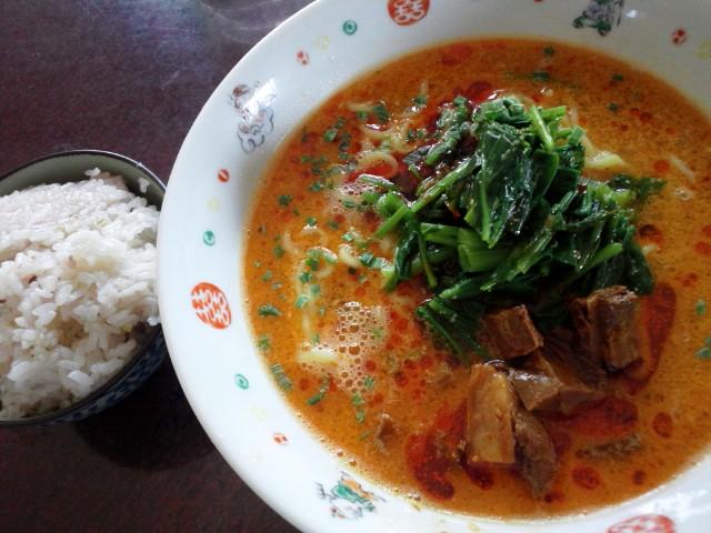 特製坦々麺+五穀米