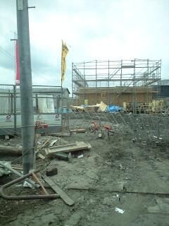 大東建託の建設中のアパート