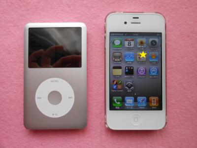 iPodとiPhone 4