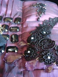 紫ドレス小物
