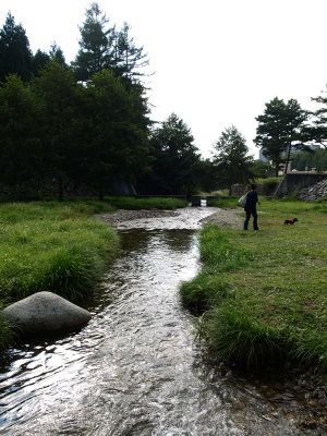 リステルパークの渓流(観音寺川)