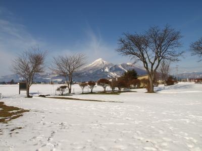 磐梯山(猪苗代湖の白鳥浜より)