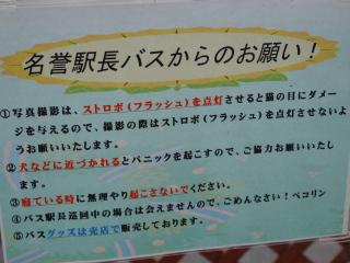 猫駅長バスちゃんからのお願い@芦ノ牧温泉駅