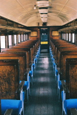 日中線記念館(旧熱塩駅)、展示客車内