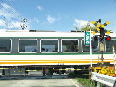 電車通過@南若松駅そばの踏切