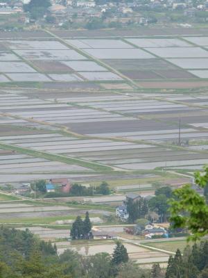 蓋沼森林公園より会津盆地の眺め