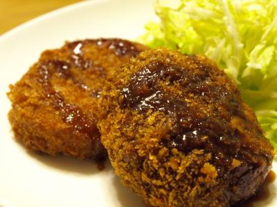 肉の東部のメンチカツで晩御飯♪