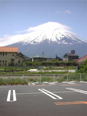 富士山。富士吉田市内より
