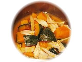 かぼちゃと鶏剣先の煮物