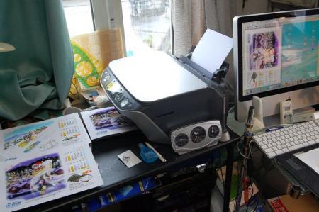 印刷作業中