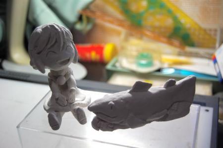紙粘土の模型です