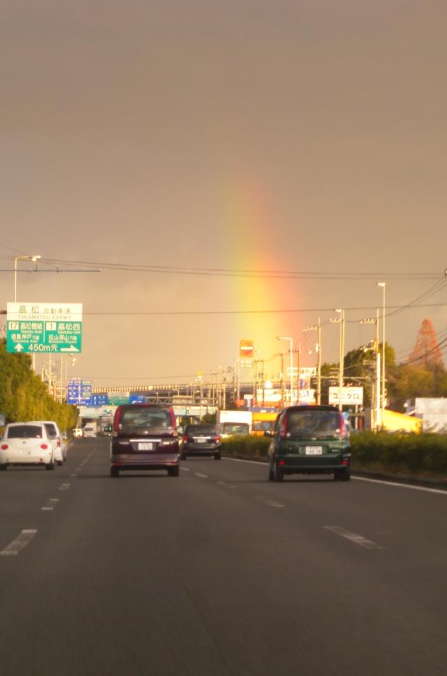 地上からの虹