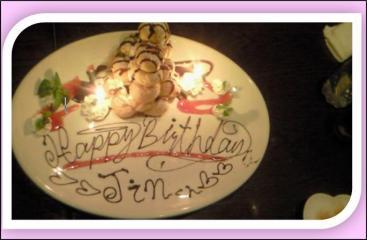 25才バースデイケーキ