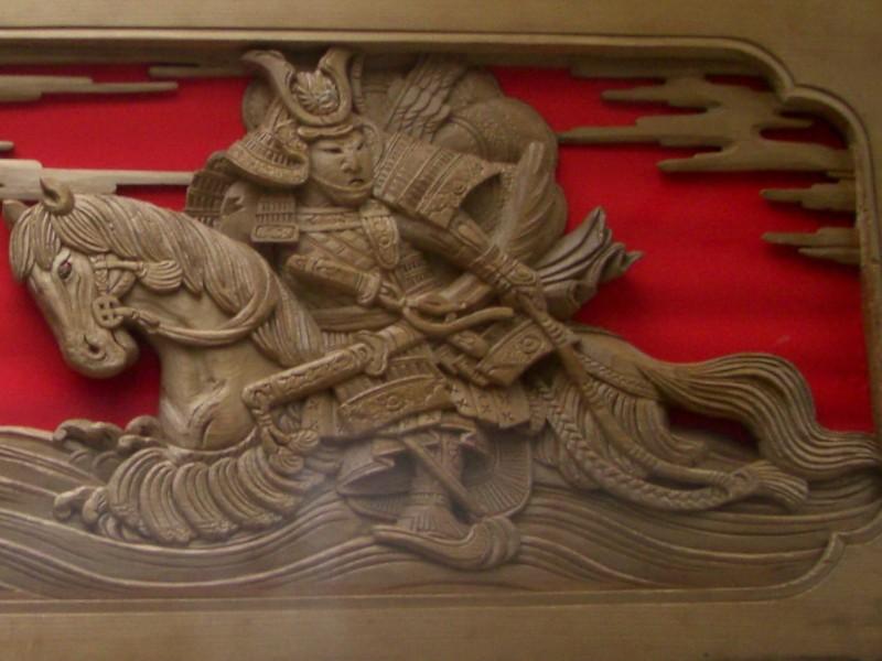 だんじりの下絵と彫刻2008年9月20日撮影
