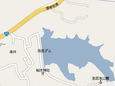 池田池公園&船木神社map