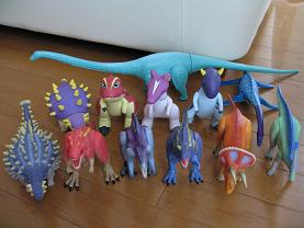 恐竜ソフビ