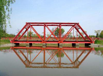 トラス構造の橋①