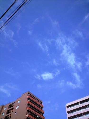 通勤途中の青空
