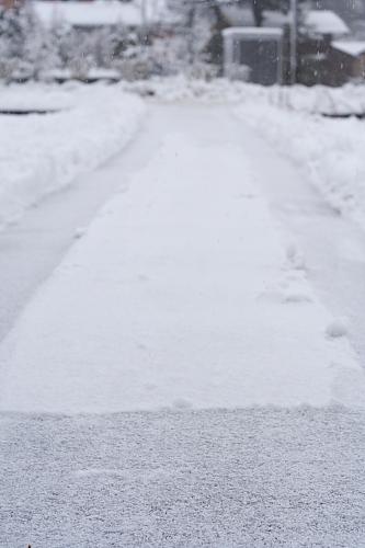 ここを延々と除雪するのだー