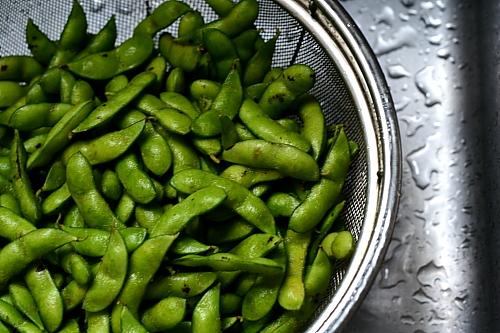枝豆をひたすら食べる!