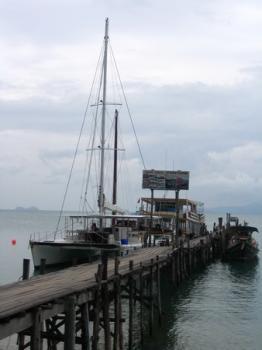 サムイ島の天気 桟橋カタマラン