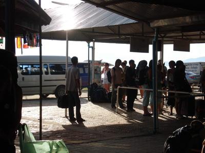 サムイ島の天気 朝の船着場