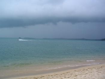 サムイ島の天気 ボプットビーチ①