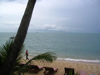 サムイ島の天気 朝のボプットビーチ