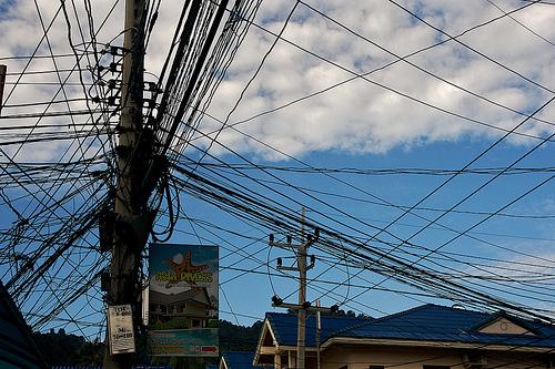 サムイ島の天気 電線!!!