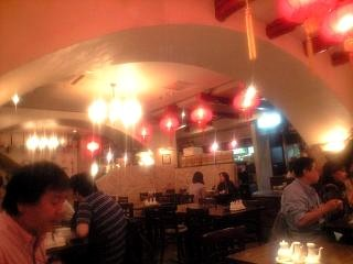 中華料理屋(店内の様子)