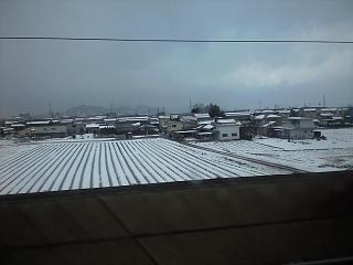 新幹線の車窓(関ヶ原)