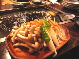 もんじゃ(野菜焼き)