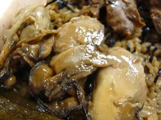 牡蠣飯(牡蠣アップ)