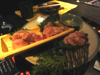 黒薩摩(鶏刺身)