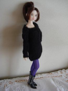ccs-momoko chocolet black knit