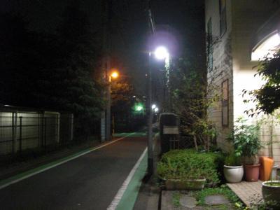 夜道を明るく