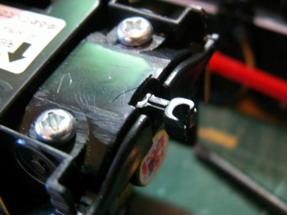 しっかり固定されるBトレ連結器