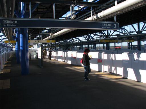 首都圏新都市鉄道つくばエクスプレス 流山おおたかの森駅 ホーム全景