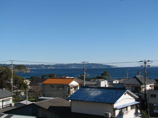 JR内房線 太海駅 跨線橋から望む海