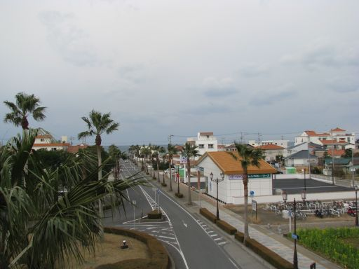 JR内房線 館山駅 西口バルコニーから臨む景色