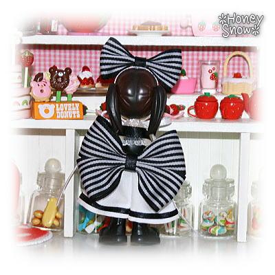 【Pinky:st向け手作り服】 ストライプ★マリン