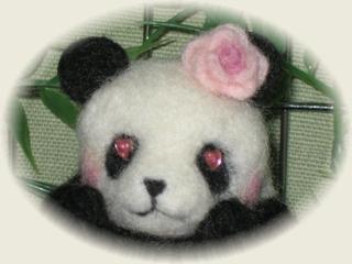 羊毛フェルト☆恋するパンダ