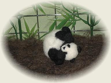羊毛フェルト☆ころころパンダ