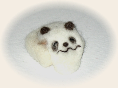 羊毛フェルト☆「へたれ餅パンダ」