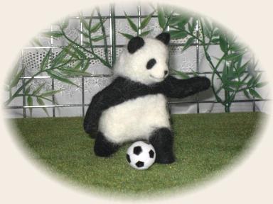 羊毛フェルト☆サッカーパンダ