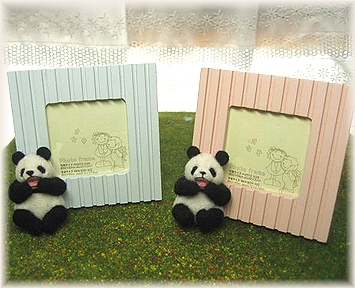 羊毛フェルト☆パンダの写真立て