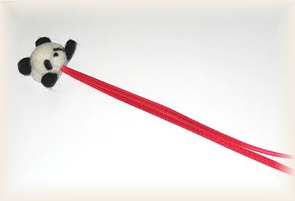 羊毛フェルト☆パンダのしおり 試作品
