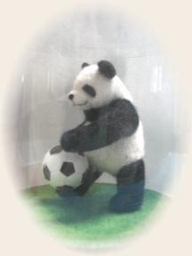 羊毛フェルト☆サッカーパンダ 2号